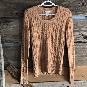 Pure Alfred Sung tan knit sweater size Med